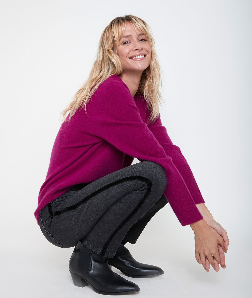 Ralph fuchsia cashmere pullover PhotoZ | 1-2-3