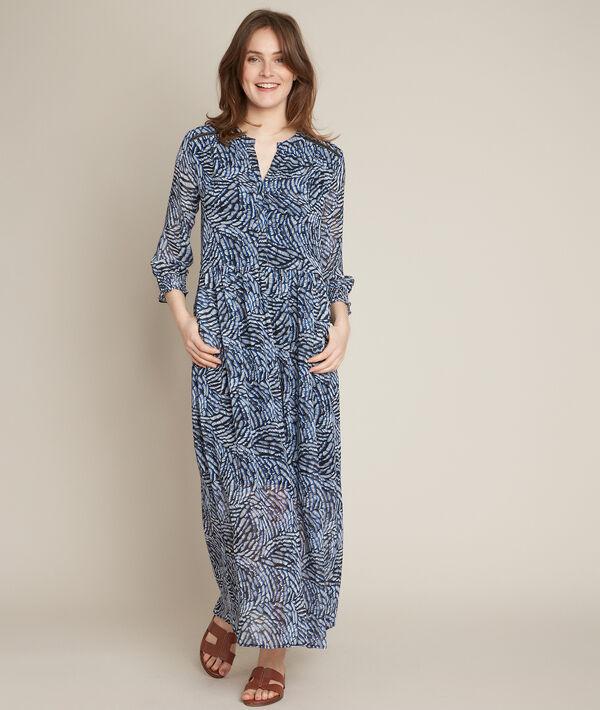 Libra printed maxi dress PhotoZ | 1-2-3
