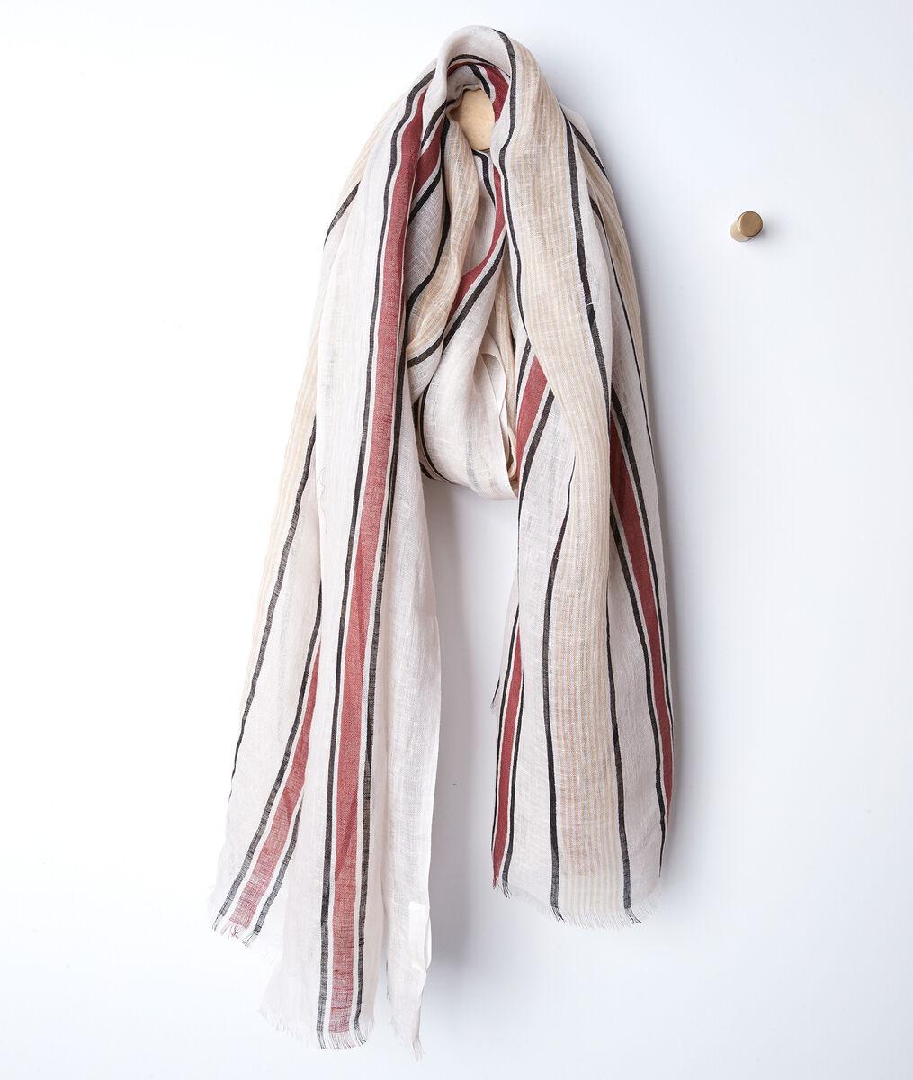 Ben striped linen scarf PhotoZ | 1-2-3