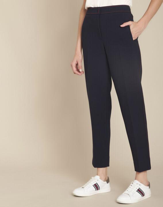 Ermel navy compact trousers PhotoZ | 1-2-3