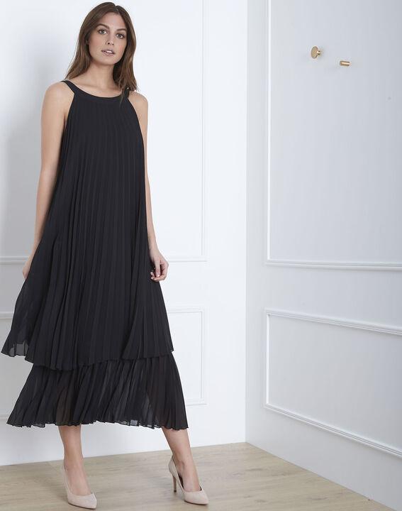 Nice black long pleated dress (1) - Maison 123