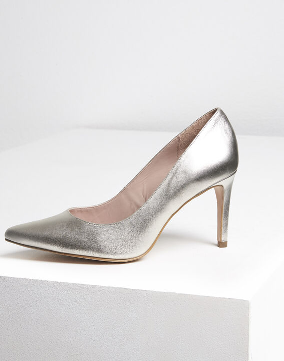 Kelly gold leather high heels (2) - Maison 123
