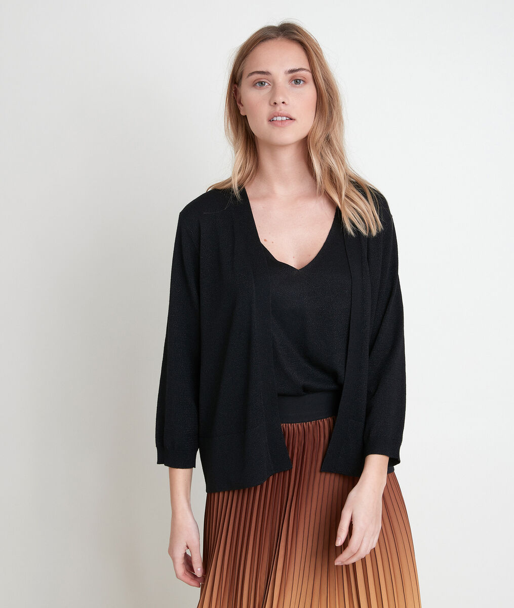 ALIZEE BIS fine black cardigan PhotoZ | 1-2-3