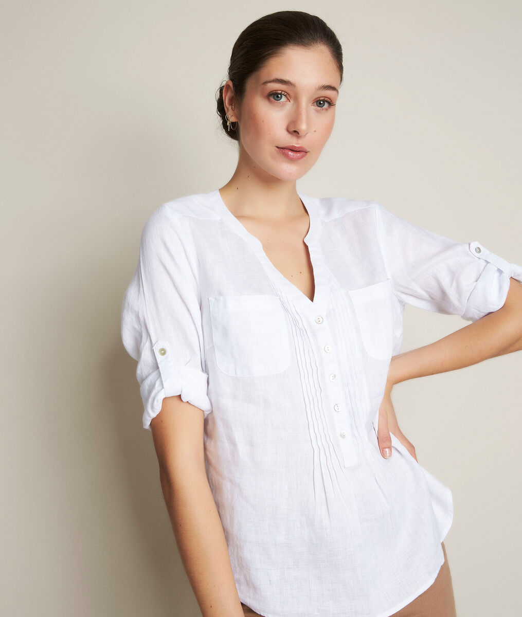Roma white linen shirt PhotoZ | 1-2-3