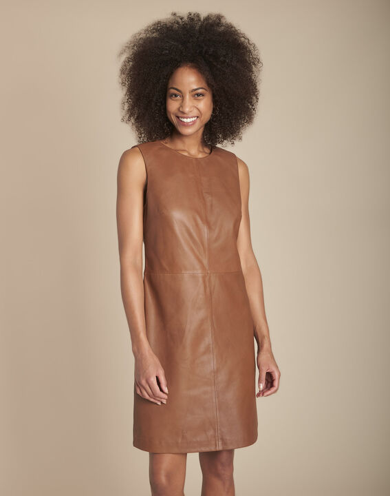 Izzie mahogany leather dress PhotoZ | 1-2-3