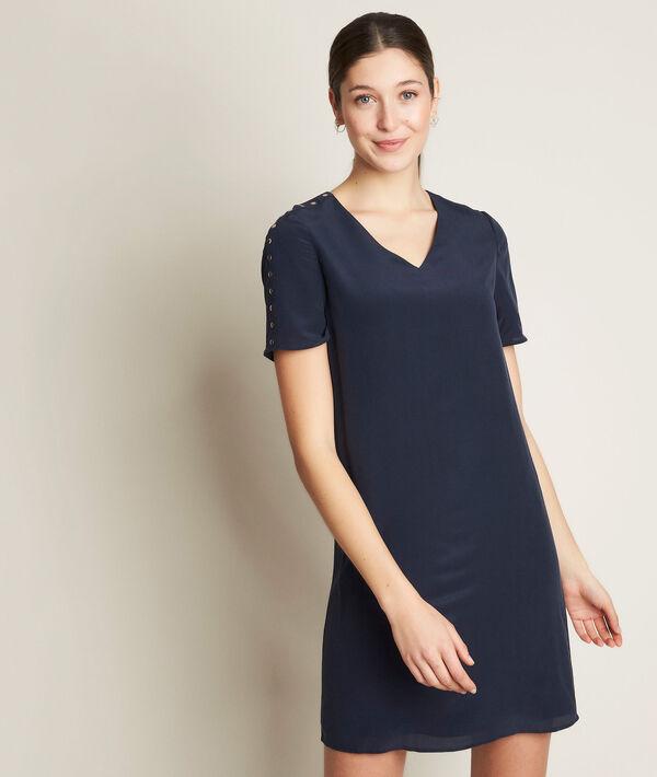 Cheryl blue silk dress PhotoZ | 1-2-3