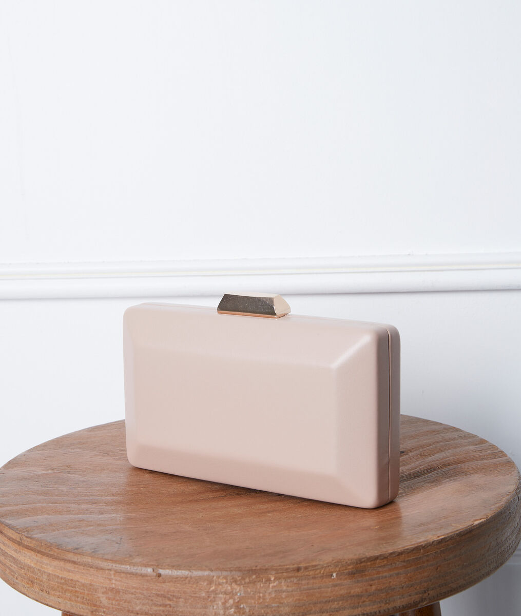 Daphné powder pink clutch bag PhotoZ | 1-2-3