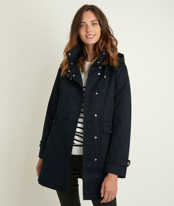 Sunko navy blue hooded parka PhotoZ | 1-2-3