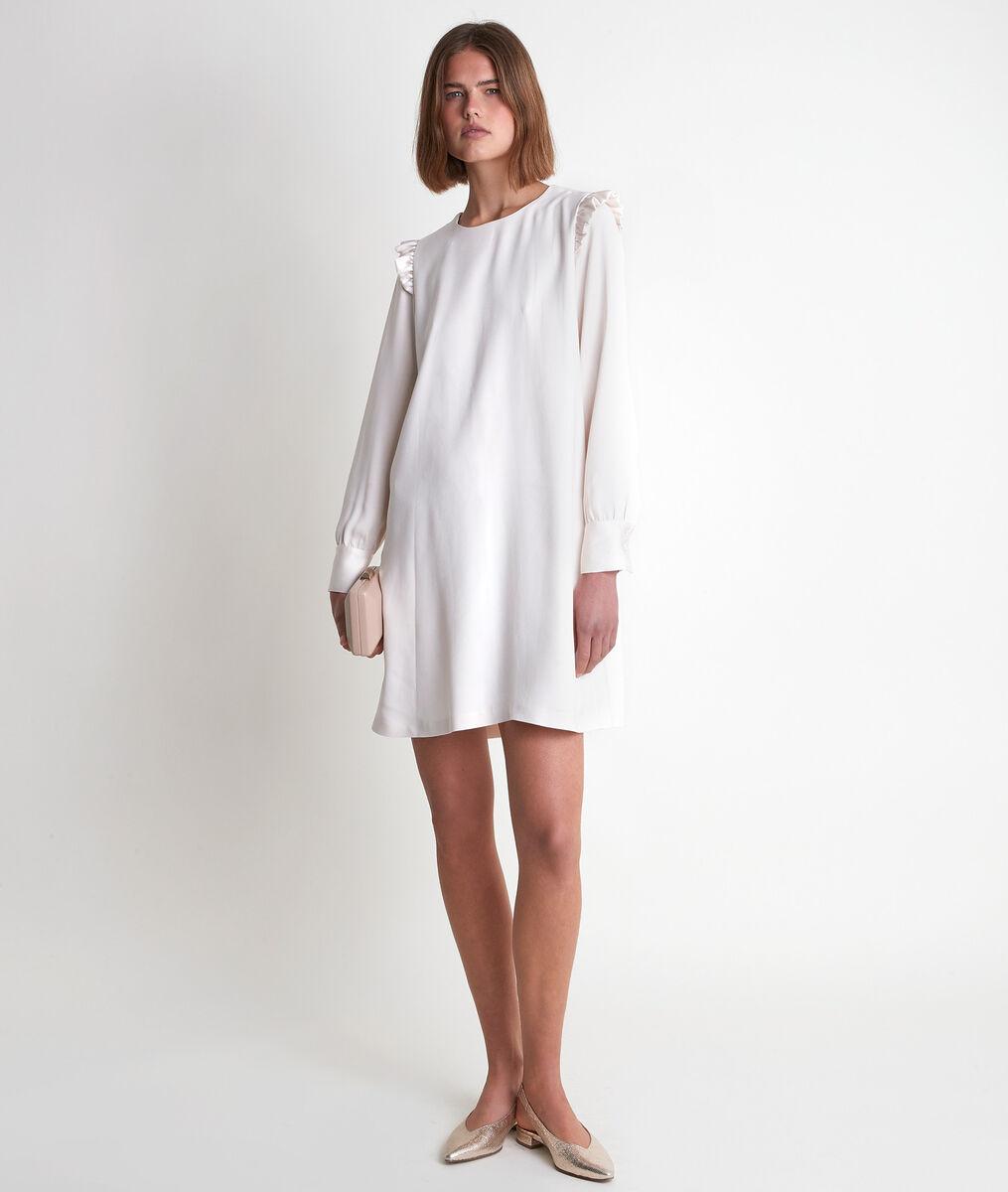 Medina cream crepe dress  PhotoZ | 1-2-3