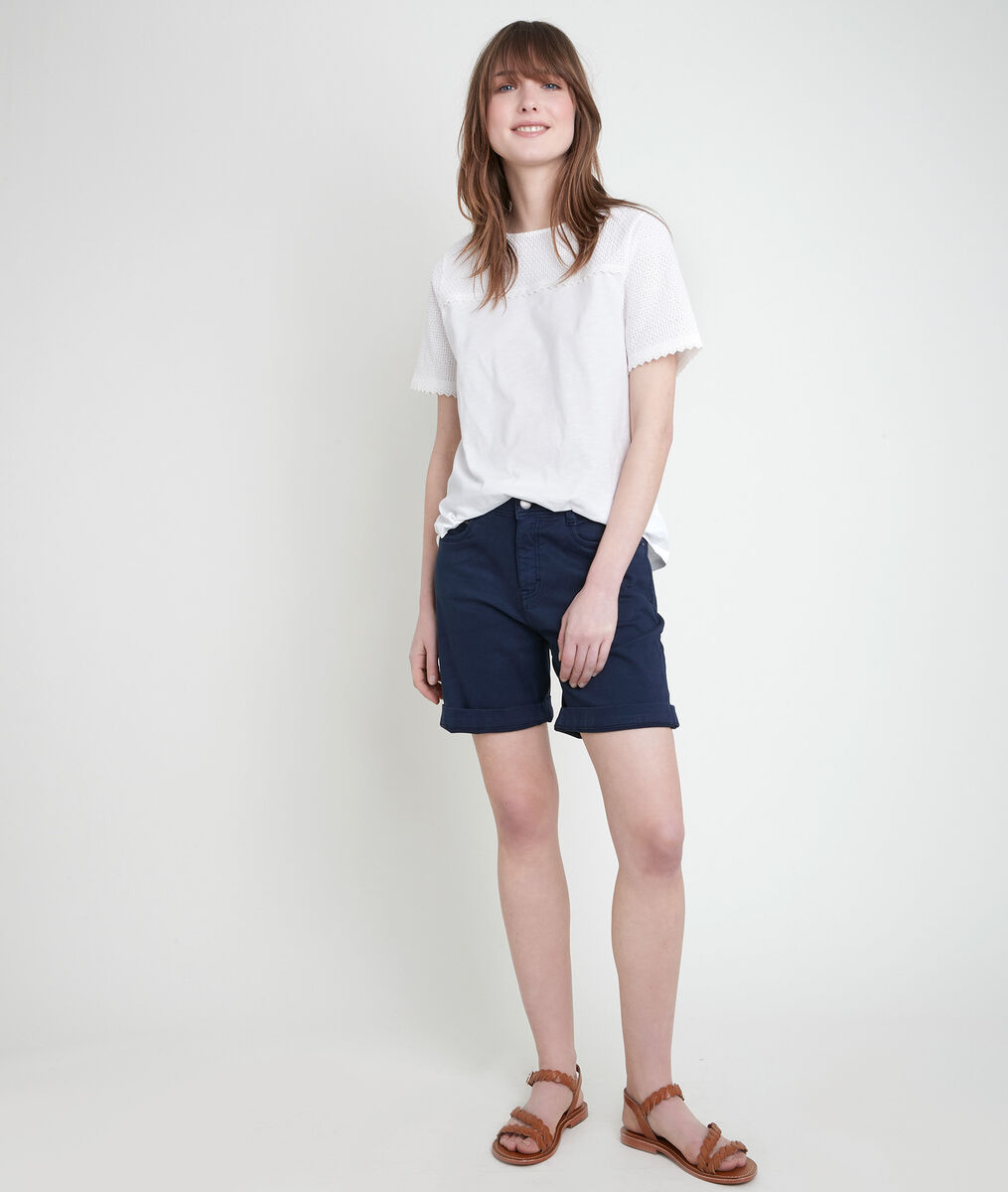 ALMA navy organic cotton shorts PhotoZ | 1-2-3