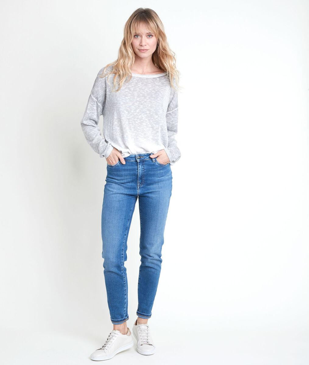 Ava heather grey lurex jumper PhotoZ | 1-2-3
