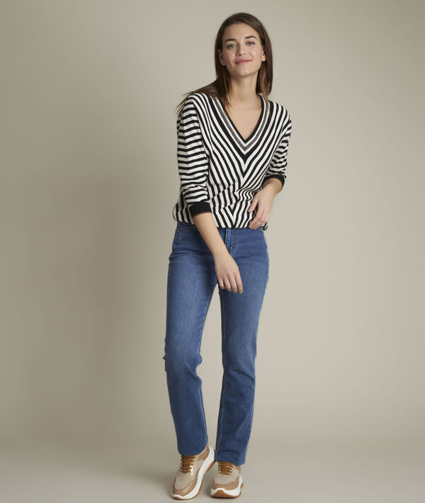 Sonia, the original 123 stone used straight-leg jeans PhotoZ | 1-2-3