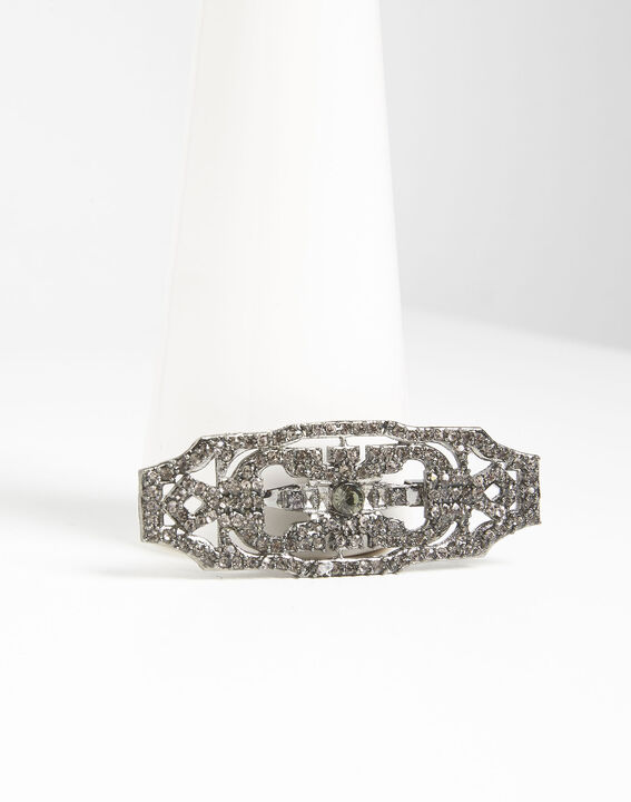 Xavi art deco style brooch with black stones  PhotoZ | 1-2-3