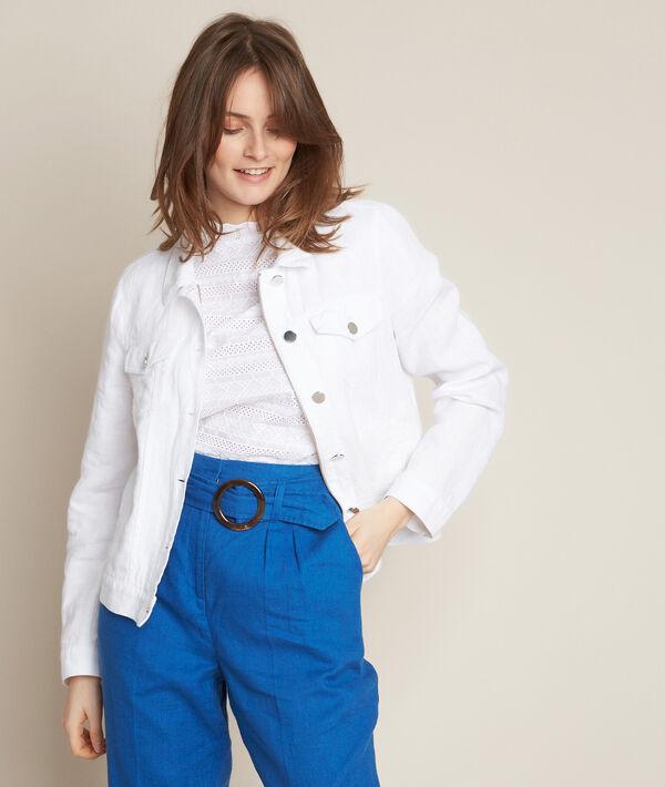 Clem white linen jacket PhotoZ | 1-2-3