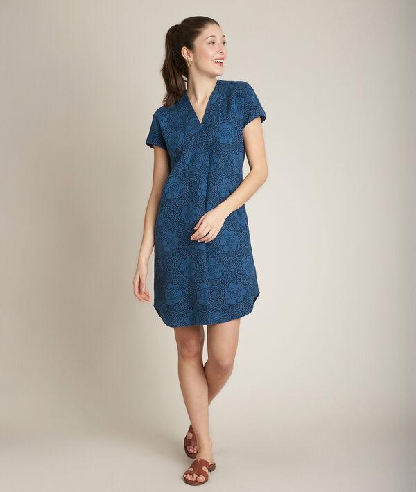 Christina printed linen dress PhotoZ | 1-2-3