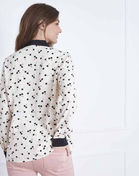 Venus cherry print pale pink  long-sleeved blouse (4) - Maison 123
