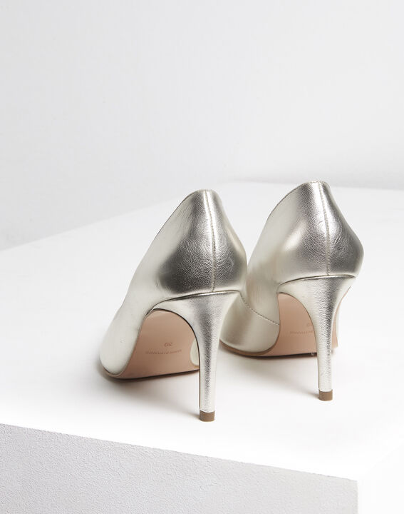 Kelly gold leather high heels (4) - Maison 123