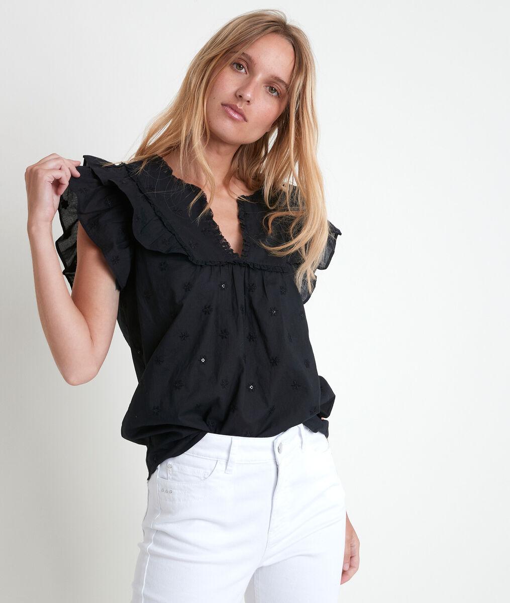 Tarin embroidered organic cotton blouse PhotoZ | 1-2-3