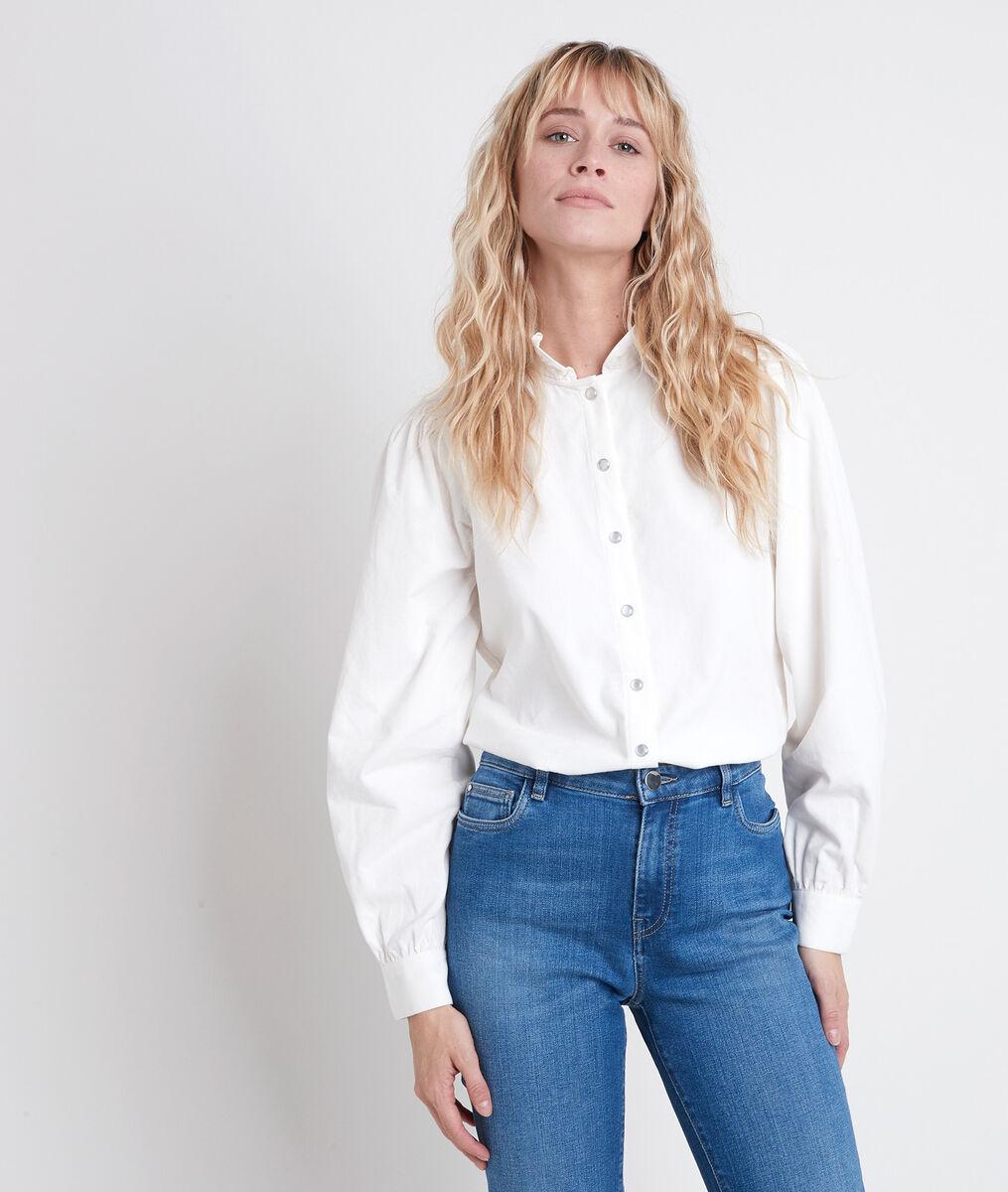 JERALDINE ecru corduroy shirt PhotoZ | 1-2-3
