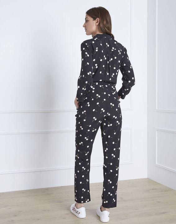 Lisa cherry print black jumpsuit (3) - Maison 123