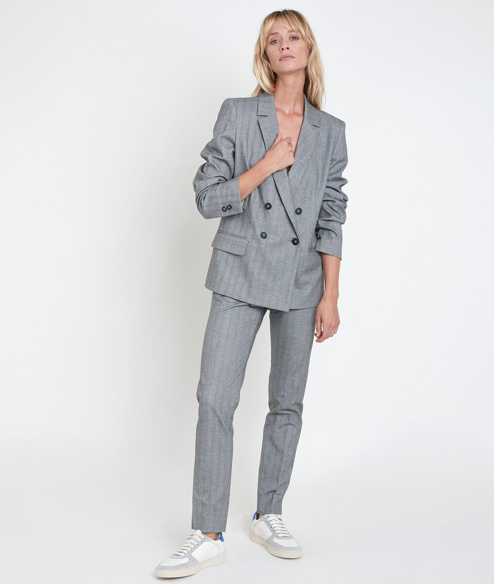 Tilleul grey herringbone jacket PhotoZ | 1-2-3
