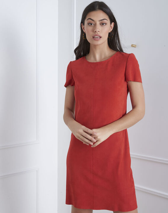 Linette red suede dress PhotoZ | 1-2-3