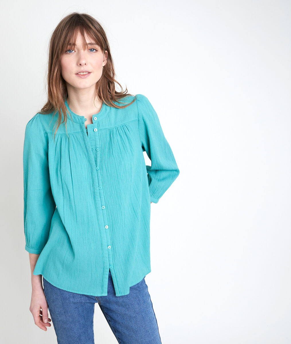 TOBBY jade cotton blouse PhotoZ | 1-2-3