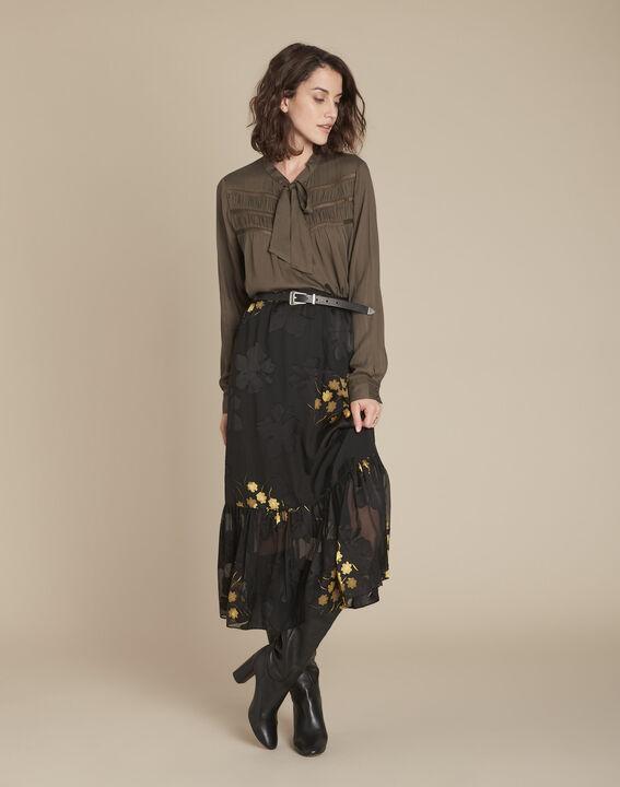 Moulin khaki pussy bow lace blouse PhotoZ | 1-2-3