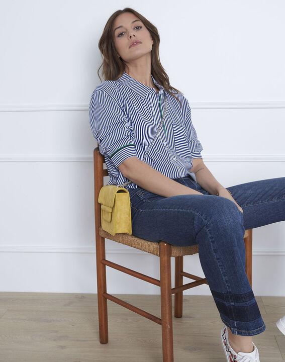 Darwin pin striped blue blouse (1) - Maison 123
