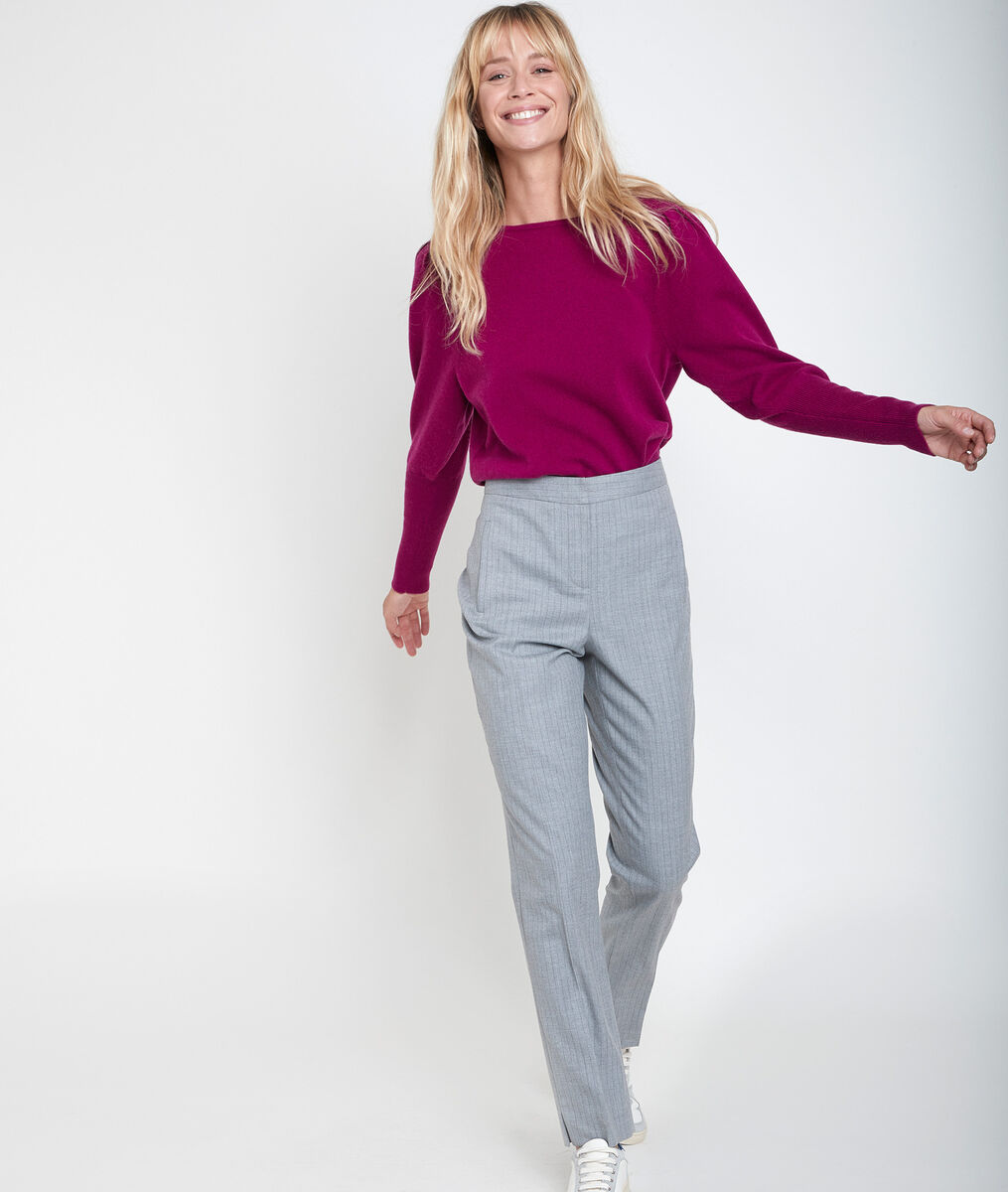 Lara striped tapered-leg trousers PhotoZ | 1-2-3