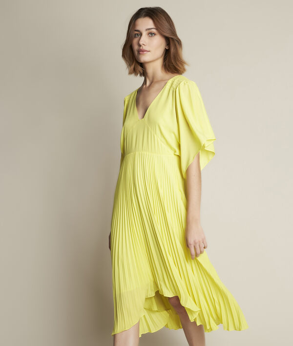 Hedwige yellow pleated dress PhotoZ | 1-2-3