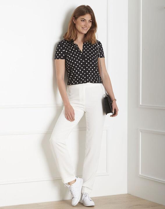 Hutch white crepe cigarette-cut trousers (2) - Maison 123