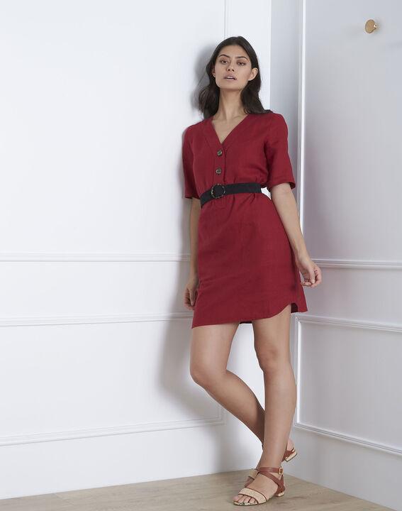 Loanne red linen dress PhotoZ | 1-2-3