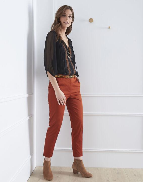 Rubis mahogany cigarette-cut trousers (2) - Maison 123