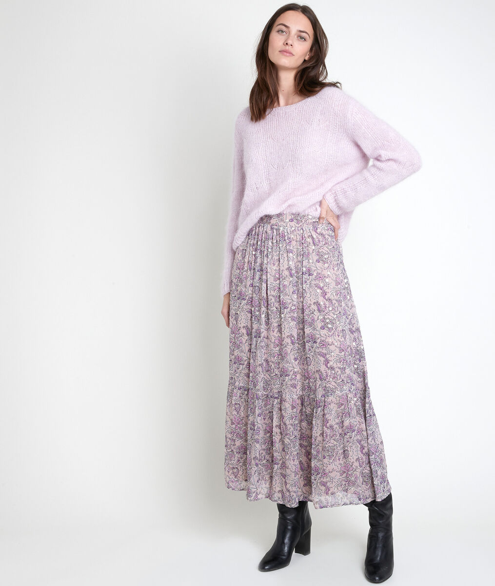 Elena mauve printed skirt PhotoZ | 1-2-3