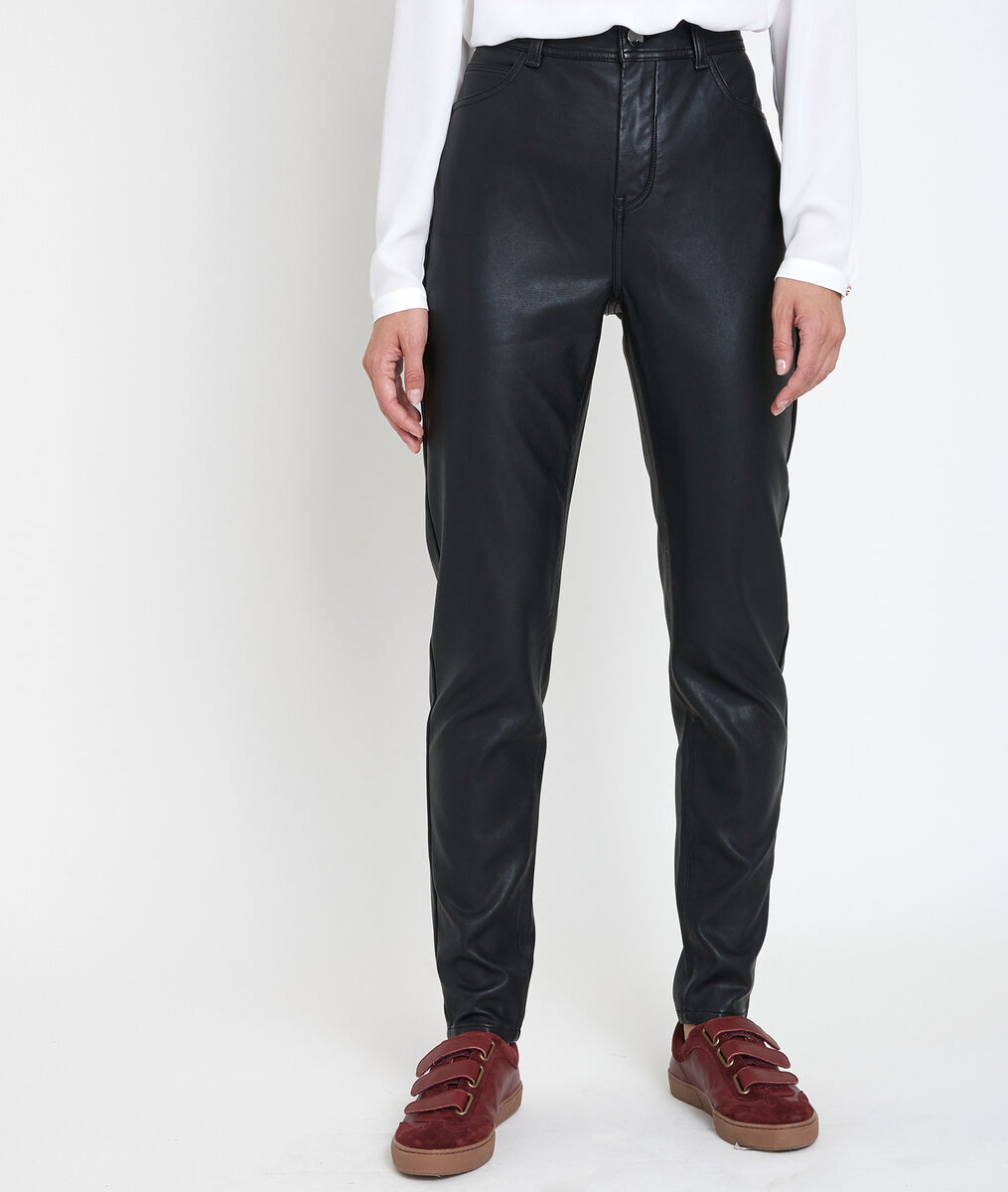 Malice faux leather slim-fit trousers PhotoZ | 1-2-3
