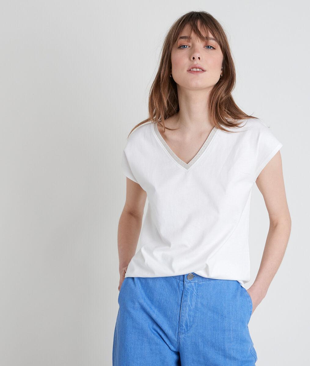 IBIS ecru V-neck T-shirt PhotoZ | 1-2-3