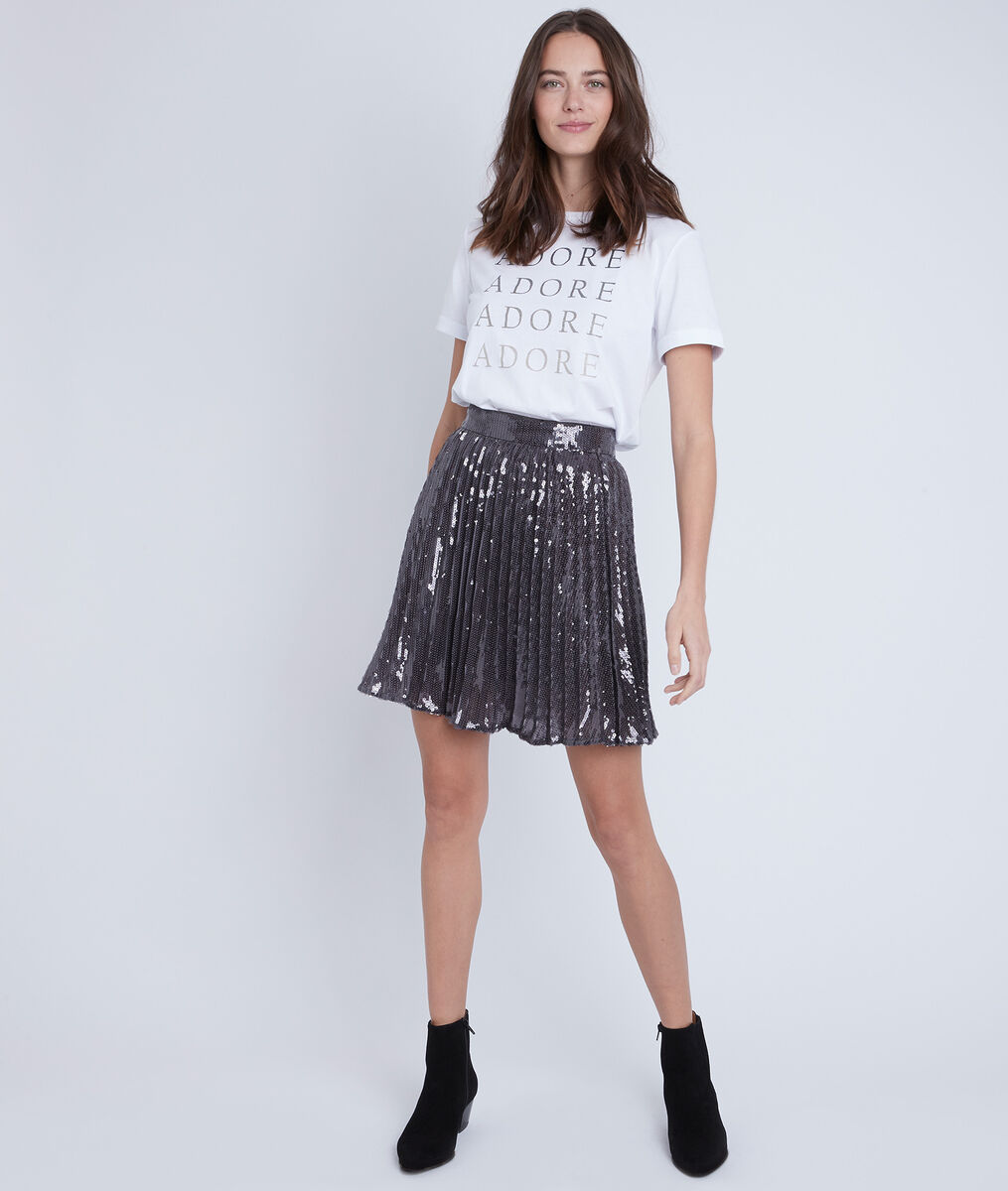 Gemme sequin pleated skirt PhotoZ | 1-2-3