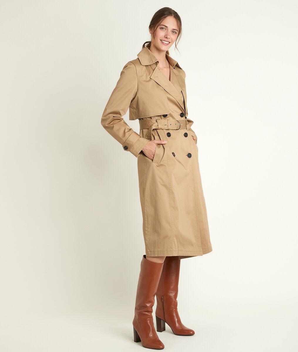 Samaya long beige trench coat PhotoZ | 1-2-3