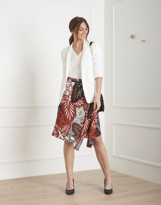 Summer mahogany print skirt PhotoZ | 1-2-3