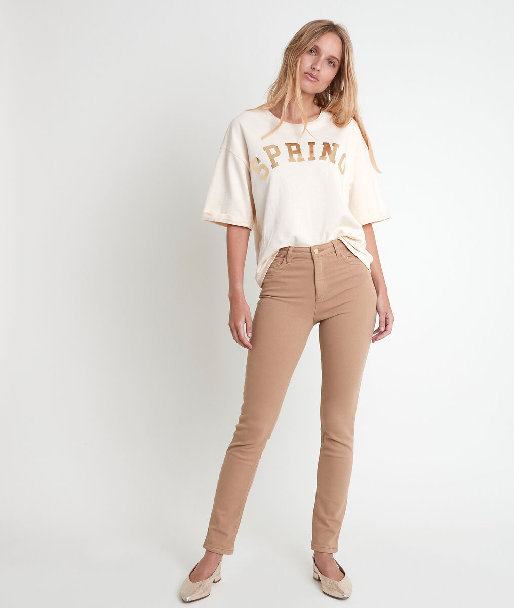 The iconic Suzy slim-fit jeans in beige recycled cotton PhotoZ | 1-2-3