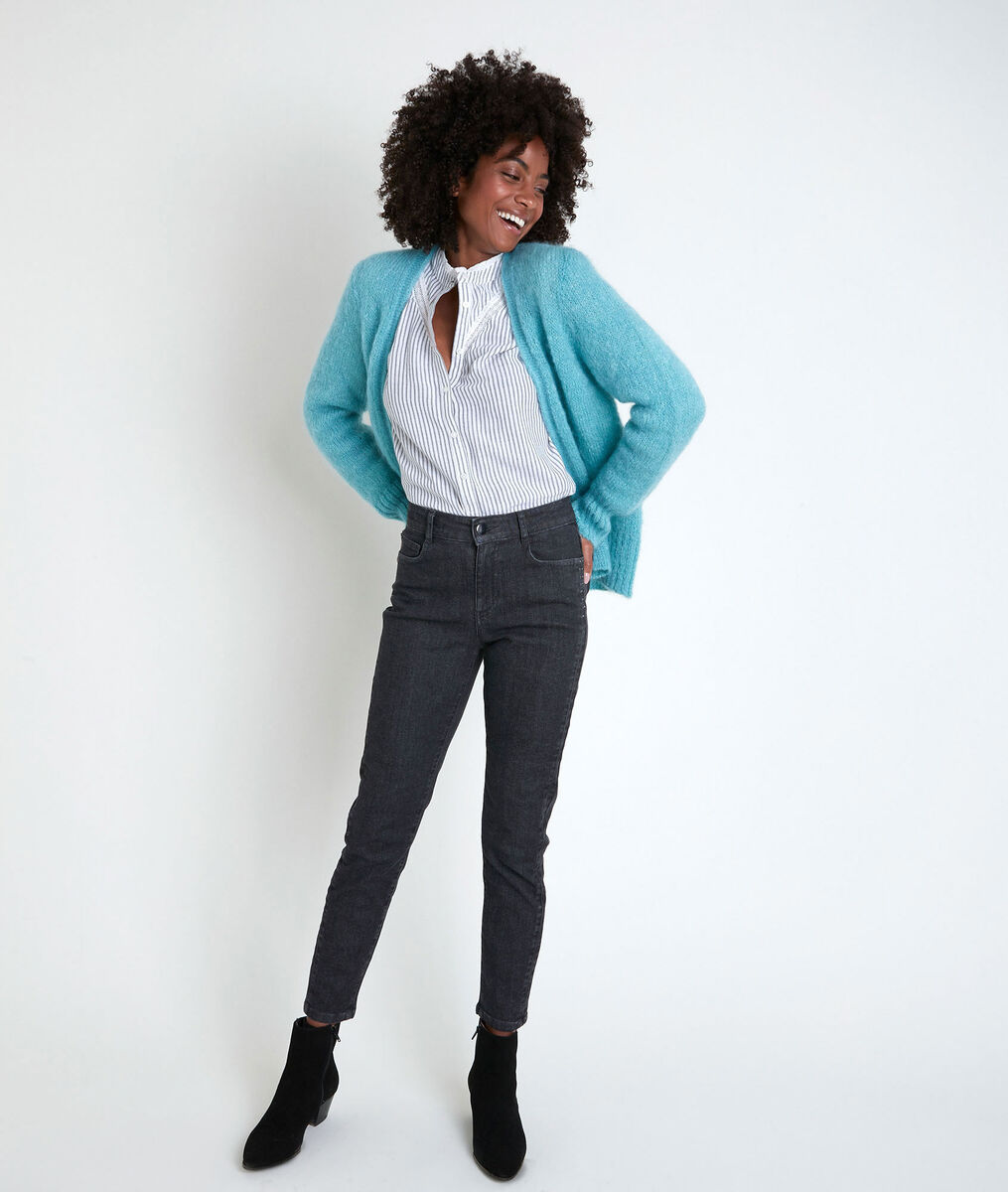 ROZELLE blue mohair blend cardigan PhotoZ | 1-2-3