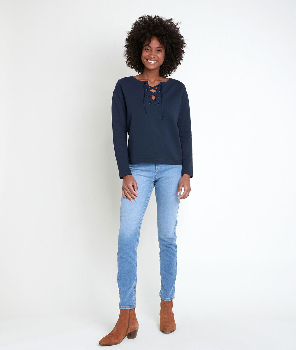 IVOIRE ink top with lace collar PhotoZ | 1-2-3