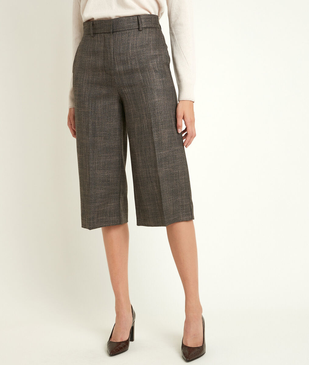 Monica checked culottes PhotoZ | 1-2-3