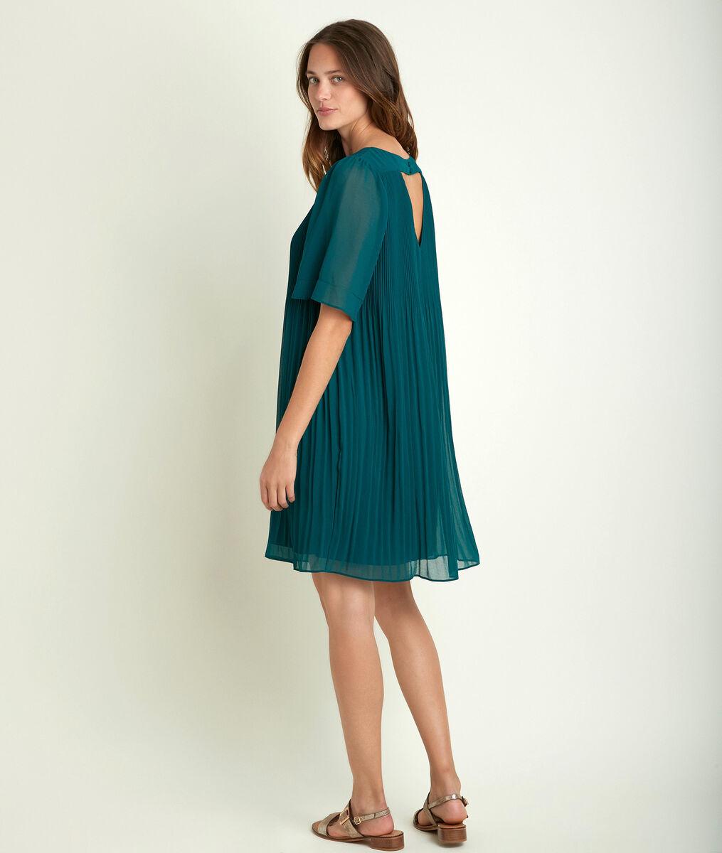 Coralia green pleated dress PhotoZ | 1-2-3
