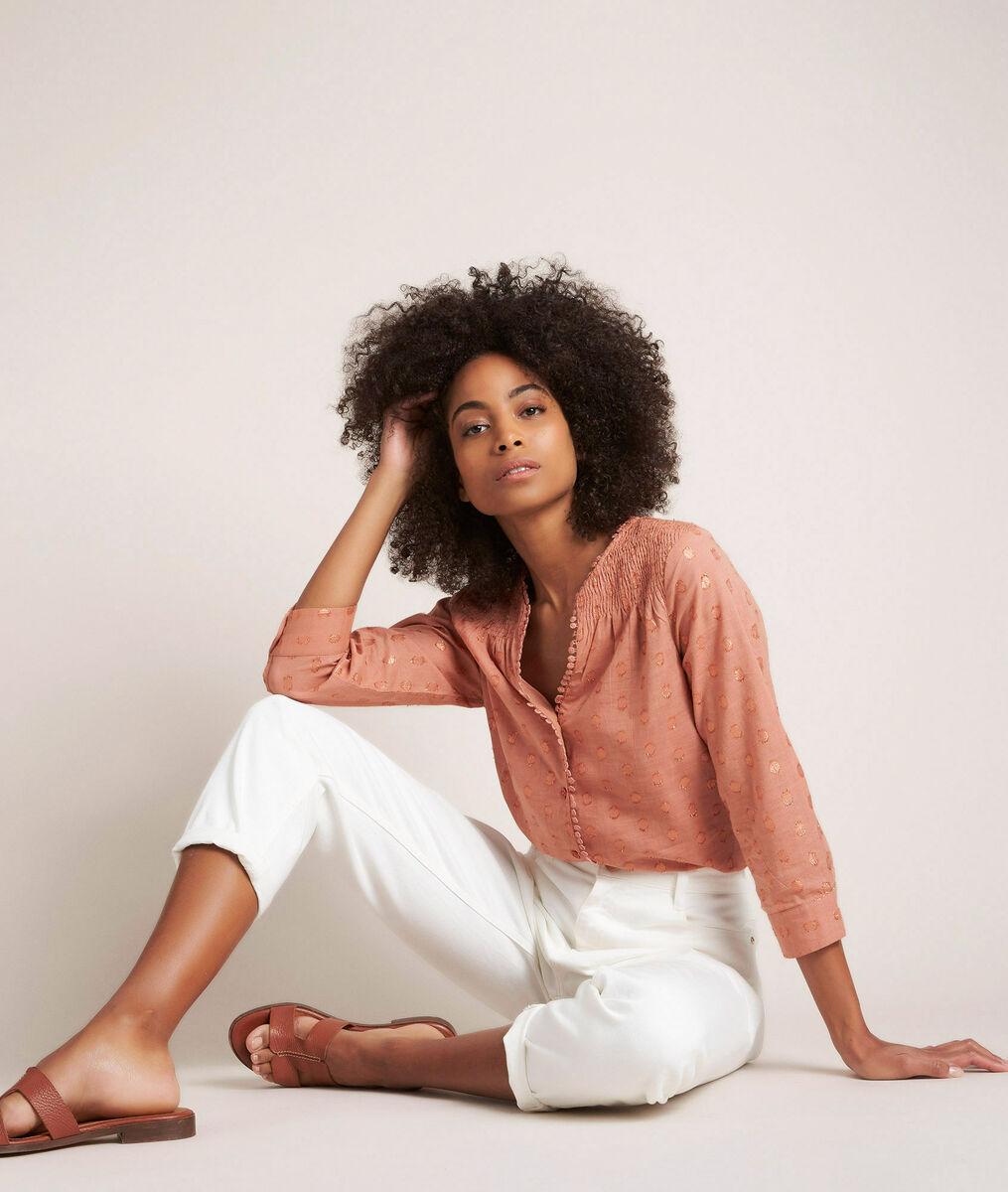 Elma pink lurex blouse PhotoZ   1-2-3