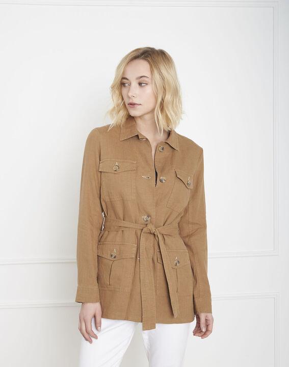 Farah tan linen safari jacket PhotoZ | 1-2-3
