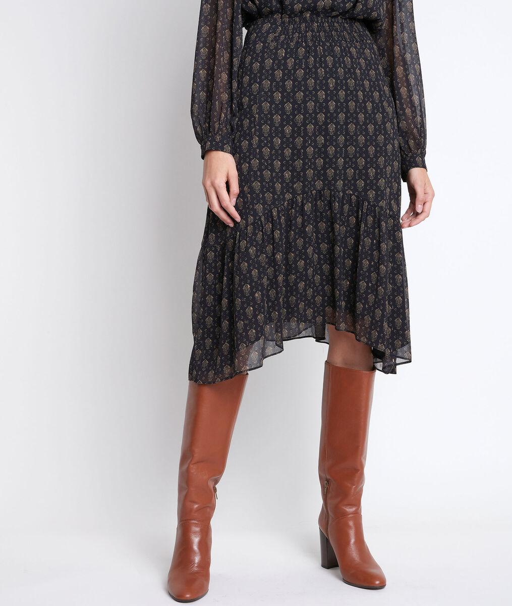 Bea gold printed skirt PhotoZ | 1-2-3