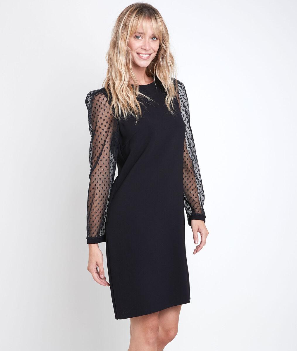 Caroline plumetis straight-cut dress PhotoZ   1-2-3
