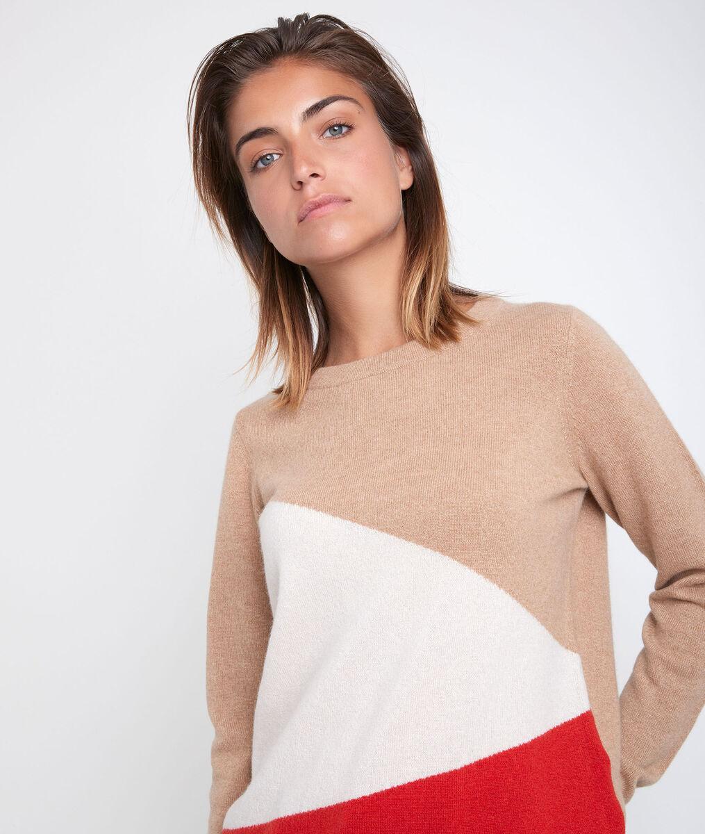 Raven colourblock cashmere pullover PhotoZ | 1-2-3